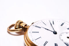 Ancient pocket watch close up Stock Images