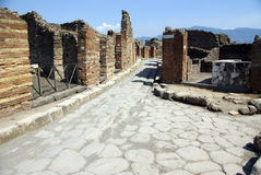 The ancient Pompei, Italy Royalty Free Stock Photography