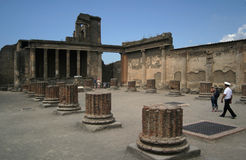 Ancient Pompeii. Pompeii, ancient town in Italy, near Naples Stock Images