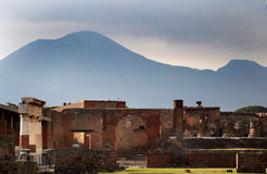 Ancient Pompeii. Pompeii, ancient town in Italy, near Naples, Vesuvio Stock Photography