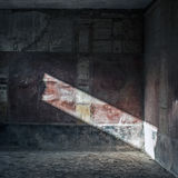 Ancient Pompeii - mural paint and mosaic Royalty Free Stock Photo