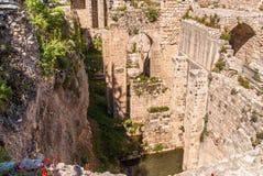 Ancient Pool of Bethesda ruins. Old City Jerusalem Royalty Free Stock Image