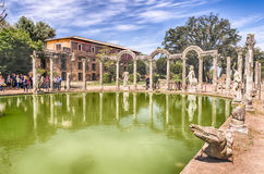 The Ancient Pool called Canopus in Villa Adriana, Tivoli Royalty Free Stock Photography