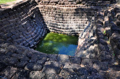 Ancient Pool. This is the Thai ancient pool of Lopburi city Stock Photos