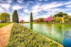 Ancient Pool in Villa Adriana (Hadrian's Villa), Tivoli, Italy Stock Photography