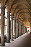 Ancient porch in bologna Royalty Free Stock Image