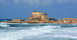 The ancient port at Caesarea Royalty Free Stock Photo
