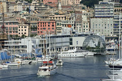 Ancient port of Genoa Stock Photography