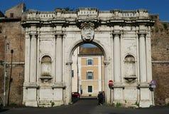 Ancient Porta Portese Gate in Rome Stock Photo