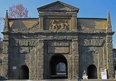 Ancient Porta Sant'Agostino in Bergamo Stock Images