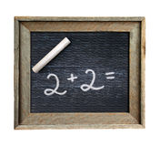 Ancient portable school board. On which figures written by chalk Royalty Free Stock Images