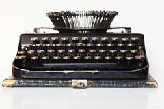 Ancient portable typewriter Stock Photography