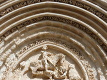Ancient portal of St. George, Ragusa Ibla. Stock Photos