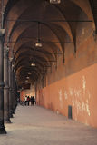Ancient porticos in Bologna in Italy Royalty Free Stock Photo
