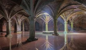 Portuguese underground cistern in the Mazagan. El Jadida city, Morocco. Ancient Portuguese underground cistern in the Mazagan. El Jadida city, Morocco royalty free stock photos