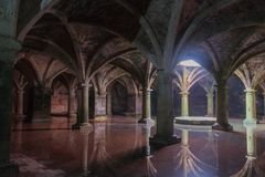 Portuguese underground cistern in the Mazagan. El Jadida city, Morocco. Ancient Portuguese underground cistern in the Mazagan. El Jadida city, Morocco stock photo