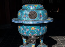 Ancient pot, used for fire prevention in a palace Royalty Free Stock Image