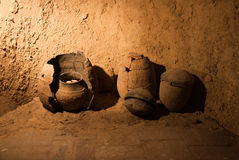 Ancient pots Stock Images