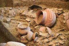 Ancient pottery of Ban Chiang, Thailand Royalty Free Stock Photography