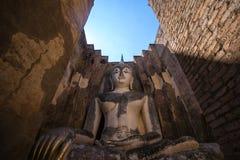 Ancient Pra Ajana statue at Sri Chum Temple. Royalty Free Stock Photography