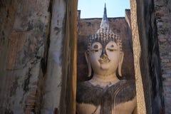 Ancient Pra Ajana statue at Sri Chum Temple. Stock Photos