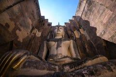 Ancient Pra Ajana statue at Sri Chum Temple. Stock Image