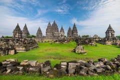 Ancient Prambanan Hindu temple. Java, Indonesia stock photo