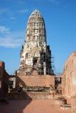 Ancient prang Buddhist temple of Wat Ratcha Burana. Ayutthaya, Thailand. Ancient prang Buddhist temple of Wat Ratcha Burana, sunny day. Ayutthaya, Thailand Stock Photo