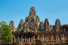 Ancient of Prasat Bayon temple, Angkor Thom Royalty Free Stock Image