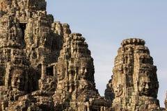 Ancient of Prasat Bayon temple, Angkor Thom Stock Images