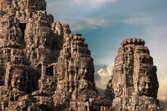 Ancient of Prasat Bayon temple, Angkor Thom Stock Photo
