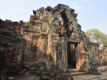 Ancient Preah Khan Temple at angkor Wat Area , Cambodia Royalty Free Stock Image