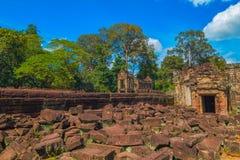 Ancient Preah Khan temple ruin. Siem Reap, Cambodia Stock Images