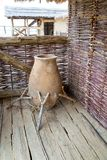 Ancient prehistoric pot Stock Images