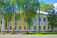 Ancient pretty house on Bakunina street in Torzhok city, Russia Royalty Free Stock Images