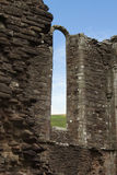 Ancient priory ruined arch in Brecon Beacons South Wales, UK Stock Images