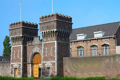 Ancient Prison Gate. Former entrance of the prison of The Hague, Netherlands Stock Images