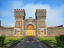Ancient Prison Gate. Front view of the former entrance of the prison of The Hague, Netherlands Stock Images