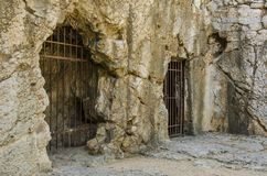 Ancient prison of Greece stock photography