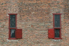 Ancient prison windows Stock Images