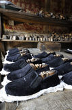 The ancient production of shoes. In China Stock Images