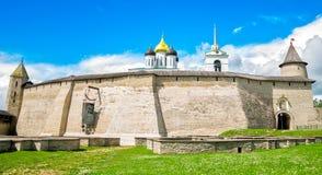 Ancient Pskov Kremlin. Royalty Free Stock Photo