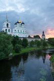 Ancient Pskov Royalty Free Stock Photos