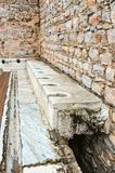 Ancient public toilets Royalty Free Stock Images