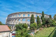 Ancient Pula Arena, Istria, Croatia. Ancient amphitheater located in Pula, Istria, Croatia. Travel destination. Famous object royalty free stock photos