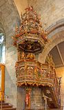 Ornate pulpit in church Royalty Free Stock Image