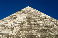 The ancient Pyramid of Cestius in Rome Royalty Free Stock Photos