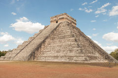 Ancient pyramid in Chichen Itza Mexico. Royalty Free Stock Photos