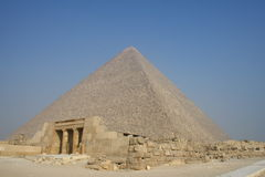Ancient pyramid in Egypt Royalty Free Stock Photos
