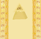 Ancient Pyramid Eye Design. Illustration Stock Photo
